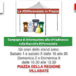 Villabate:gazebo informativo sulla differenziata